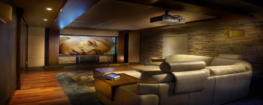 With A Light And Shade Control System Wall Dimmer Or Wireless You Can Turn Your Family Room Into Home Theater Experience